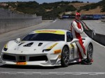 Actor Michael Fassbender and his 2017 Ferrari 488 Challenge race car