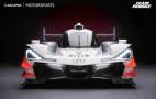 Acura ARX-05 prototype race car bows at The Quail