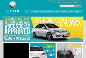 2012 Coda Sedan Electric Car Price Slashed to $25,000