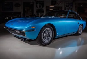 Adam Carolla's 1968 Lamborghini Islero on Jay Leno's Garage screencap