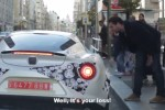 Alfa Romeo 4C on the streets of Madrid, Spain