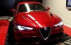 The Alfa Romeo Giulia Quadrifoglio gets strapped to a dyno