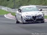 Alfa Romeo Giulia Quadrifoglio prototype on the Nürburgring