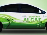 Algaeus, a 2008 Toyota Prius plug-in hybrid conversion running on biofuel blended from algae