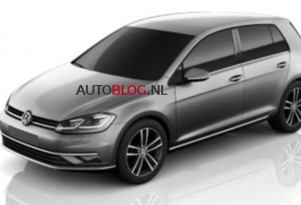 Alleged image of the 2018 Volkswagen Golf - Image via Autoblog.nl