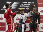 Alonso, Maldonado, Raikkonen on podium - Lotus F1 Team photo
