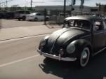 An original 1955 VW Beetle swings by Jay Leno's Garage