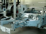An SLS AMG GT3 awaits construction