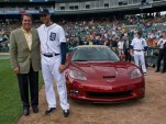 Armando Galarraga presented with 2010 Chevrolet Corvette Grand Sport Convertible