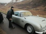 Aston Martin DB5 on the set of new James Bond movie Skyfall