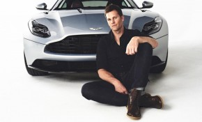 Tom Brady with Aston Martin Vanquish
