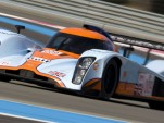 Aston Martin's LMP1 racer wears classic Gulf Oil colors