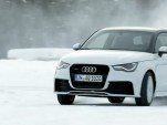 Audi A1 Quattro snow drifting video