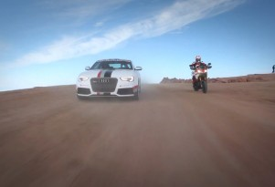 Audi and Ducati #cometogether on Pikes Peak