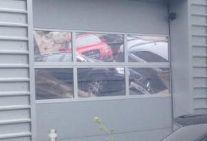 Audi dealership in U.K. where floor collapsed - Image via Paul Scoins