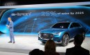 Audi of America president Scott Keogh with Audi e-Tron Quattro Concept, 2015 Los Angeles Auto Show