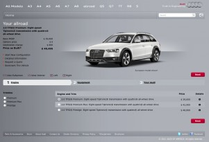 Audi of America's allroad configurator microsite
