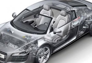Audi R8 cut-away