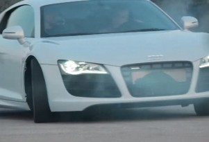 Audi R8 drifting for Facebook fan appreciation video