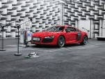 Audi R8 e-tron in the e-sound lab