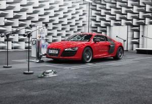 Audi R8 e-tron in the e-sound lab
