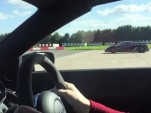 Audi R8 GT Spyder lines up against a Koenigsegg One:1