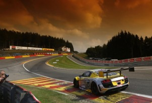 Audi R8 LMS ultra race car at the 2014 Spa 24 Hours