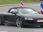 Audi R8 Spider spy shots