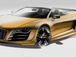 Audi R8 GT Spyder official sketches