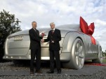 Audi TT sculpture, marking the company's 100th anniversary