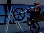 Audi's electric bike ridden by Julien Dupont. Image captured from Youtube video