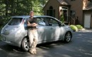 Author Marc Lausier and his 2012 Nissan Leaf