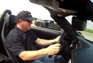 Aventador demolishes SLS AMG Roadster in a drag race