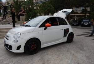 Aznom Fiat 500 with mid-engine, rear-drive layout