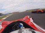 BAC Mono chases McLaren P1 at Silverstone
