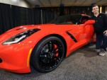 Baltimore Ravens Quarterback Joe Flacco receives a 2014 Chevrolet Corvette Stingray