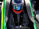 Barrichello in the Indy car at Infineon Raceway - LAT photo