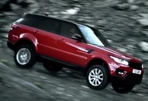 Ben Collins pilots a Land Rover Range Rover Sport down a massive ski run