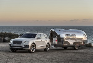 Bentley Bentayga tows a Bowlus Road Chief