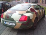 Bentley in camo