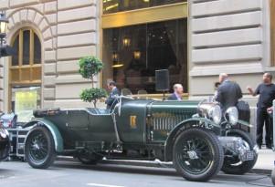 Bentley Speed Six outside St. Regis Hotel, New York City