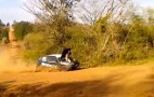 Rally Co-Driver Sits Directly On Engine To Save The Day: Video