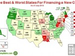 Best & worst states for financing a new car (July 2013)