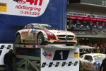 Black Falcon Mercedes-Benz SLS AMG GT3 after winning the 2013 Nrburgring 24 Hours
