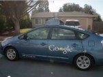 Blind driver Steve Mahan in Google's Self-Driving Toyota Prius, March 2012