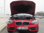 BMW 1-Series (European model) fitted with prototype 1.5-liter 3-cylinder engine