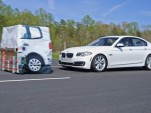 BMW 5-Series brakes for target in IIHS test
