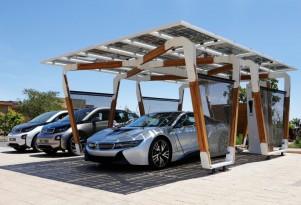BMW Designs Custom Solar Charging Station For i3, i8