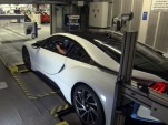 BMW i8 on the dyno after assembly