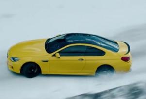 BMW M6 on ice